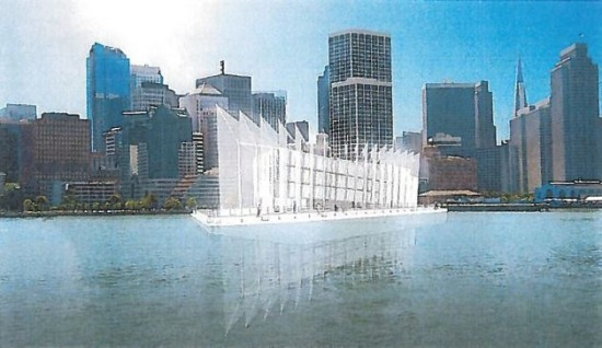 A rendering of the Google barge (By and Large, LLC).