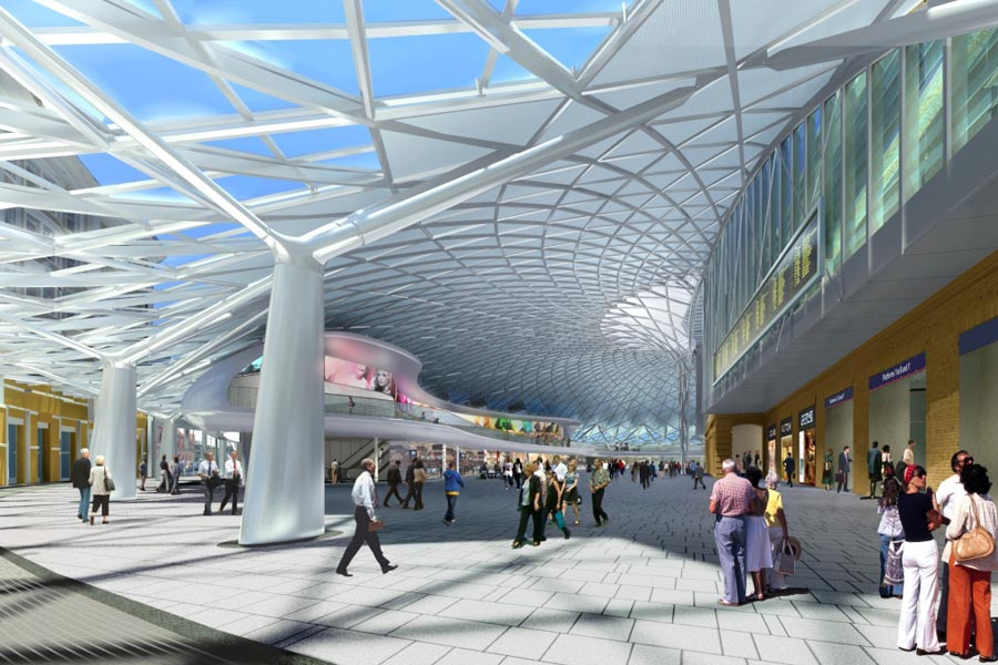 New Concourse at Kings Cross Station (courtesy Arup)
