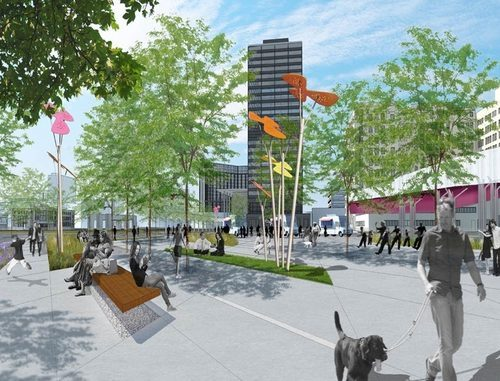 A rendering of the future park from DTE.