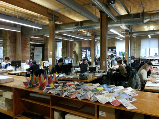 Open offices, like the Toronto office of Bruce Mau Design, have come under fire in several recent studies. (Courtesy SparkCBC via Flickr)