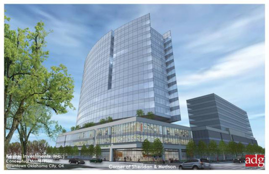 The 16-story tower will serve as the headquarters of OKC-based OGE Energy Corp. (Courtesy adg)