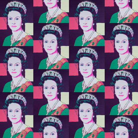 Queen Elizabeth II in Deep Purple, Warhol x Flavor Paper