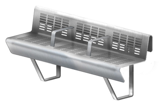 Balsley modeled his design for the new bench in Rhino. (courtesy Landscape Forms)