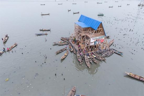 Floating School in Lagos, Nigeria. (Iwan Baan)