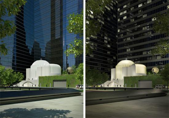 Santiago Calatrava's St. Nicholas Orthodox Church and Liberty Park. (Courtesy Port Authority of New York & New Jersey)