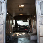 The truck was gutted to make way for an industrial kitchen from Shanghai Mobile Kitchen Solutions. (IS Collective)