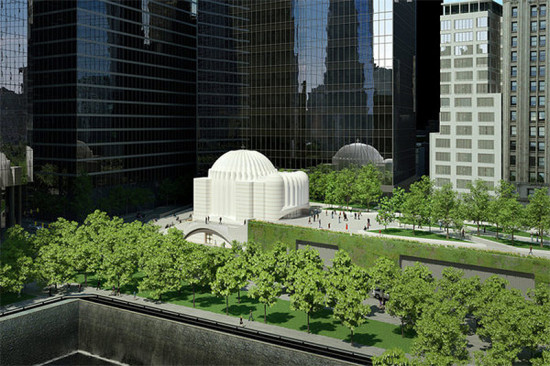 Santiago Calatrava's St. Nicholas Orthodox Church and Liberty Park. (Courtesy Port Authority of New York & New Jersey)