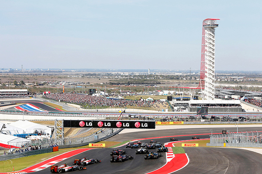 The Grand Plaza was designed to accommodate roughly 9,000 spectators. (courtesy Circuit of the Americas)