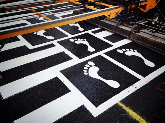 BALTIMORE'S HOPSCOTCH CROSSWALK (COURTESY GRAHAM CORELL-ALLEN/ VIA FLICKR)