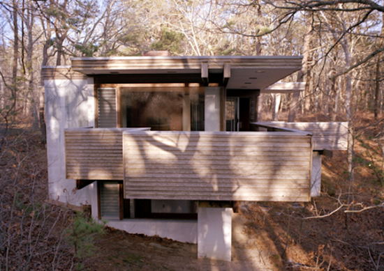 Designed by prolific local architect Charles Zehnder, the Kugel Gips house was built on Cape Cod in 1970 (Courtesy CCMT)