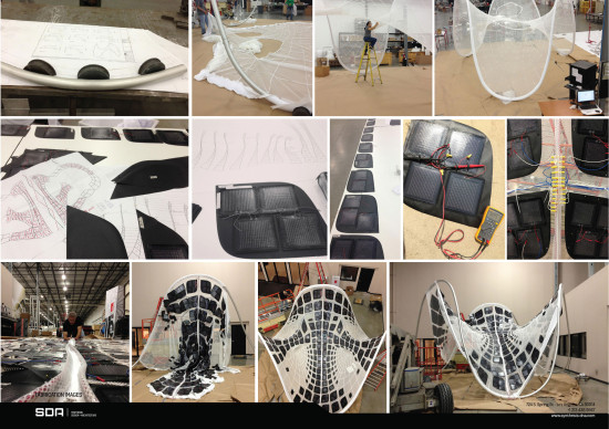 SCENES FROM THE FABRICATION OF THE PURE TENSION PAVILION (SYNTHESIS DESIGN + ARCHITECTURE)