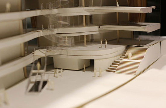 model of interior of Interdisciplinary Science and Engineering Building (Courtesy of Payette)