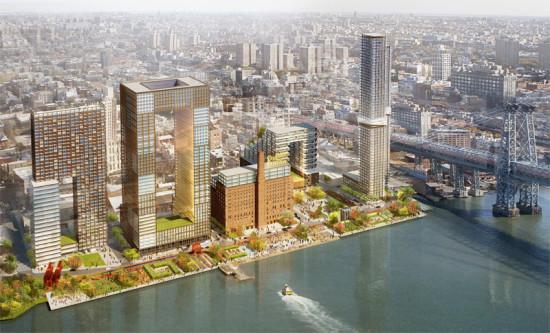 SHoP-designed proposal for Domino Sugar Refinery (COURTESY SHOP ARCHITECTS AND JAMES CORNER FIELD OPERATIONS)