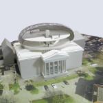 Bierman Henket Architecten's model of the proposed addition. (courtesy Bierman Henket Architecten)