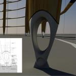 StructureCraft digitally rendered the elliptical base of each column. (courtesy StructureCraft)