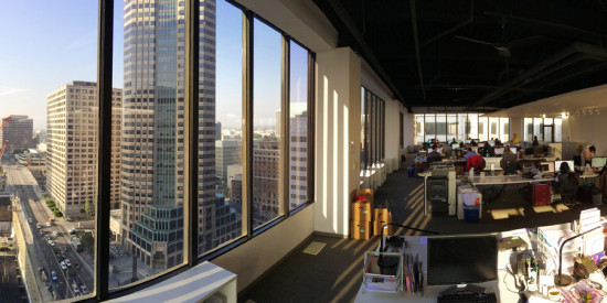 The view from Buro Happold's new Downtown LA Offices (Buro Happold)
