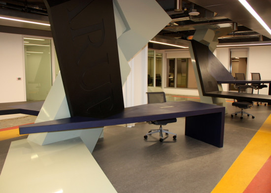 Arup's new offices, with folding desks by Zago Architecture (Arup)
