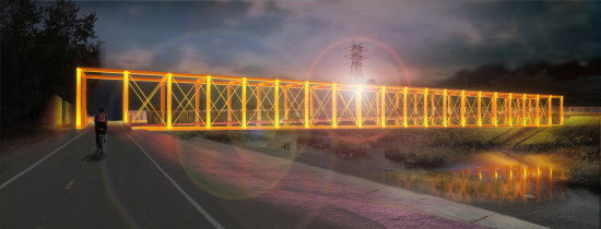 THE TAYLOR YARD BRIDGE WILL LINK CYPRESS PARK AND ELYSIAN VALLEY (STUDIO PALI FEKETE ARCHITECTS)
