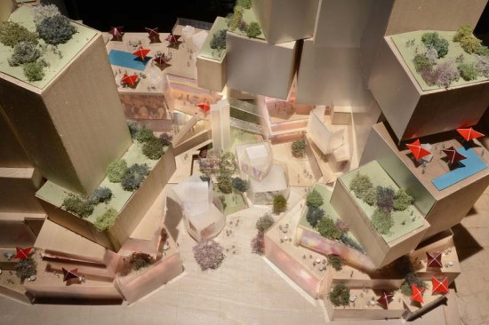Gehry Partners' newest proposal for Grand Avenue. (Related Companies)