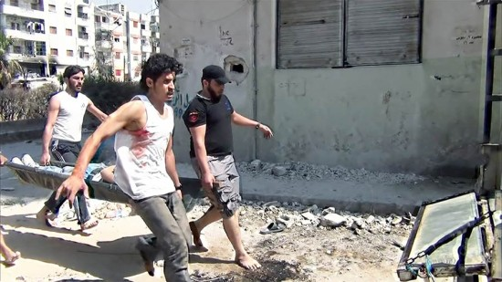 Still from Return to Homs. (Kahtan Hassoun)