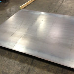 The panels are cut from  ¼-inch hot rolled steel plate. (courtesy Chris French Metal)