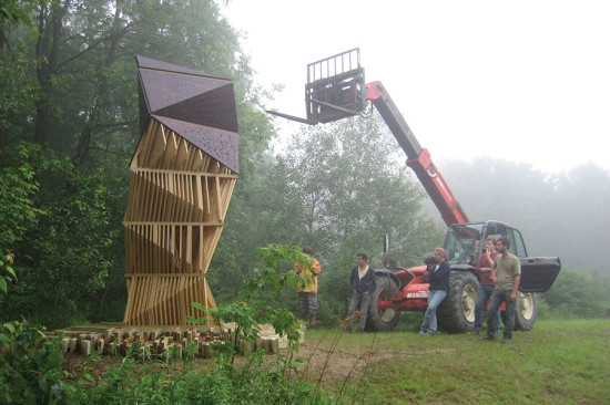 Bat Tower, Griffis Sculpture Park, East Otto, NY. (Joyce Hwang)
