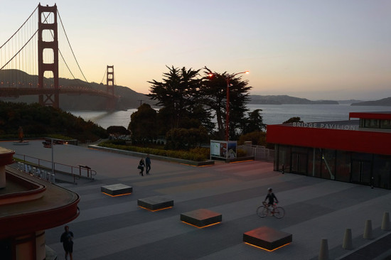 Golden Gate Bridge Plaza, San Francisco. (Marion Brenner)
