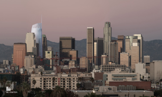 THE $1.1 BILLION WILSHIRE GRAND IS UNDER CONSTRUCTION IN DOWNTOWN LA (AC MARTIN)