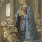 Workshop of Andrea del Verrocchio, about 1435 – 1488, Virgin adoring the Infant Christ ('The Ruskin Madonna'). (Courtesy National Galleries of Scotland)