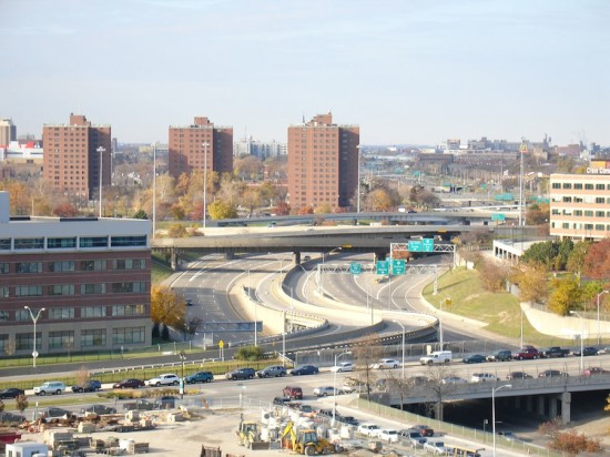 Detroit's I-375 made the list.