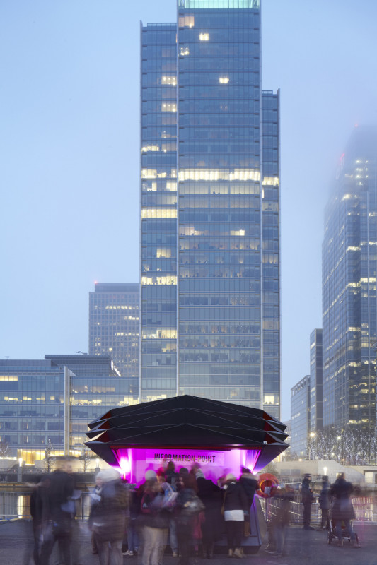 THE KIOSKS ARE DESIGNED TO ACCOMMODATE MULTIPLE LOCATIONS AND USES (MAKE ARCHITECTS)