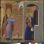 Duccio active 1278; died 1319, The Annunciation 1307/8-11. (Courtesy National Gallery, London)