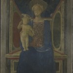 Domenico Veneziano active 1438; died 1461, The Virgin and Child Enthroned, about 1440-4. (Courtesy National Gallery, London)