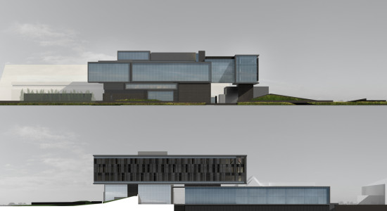 THE WEST EXTERIOR (BELOW) IS PROTECTED BY A FLOATING SUNSCREEN (ZGF ARCHITECTS LLP)