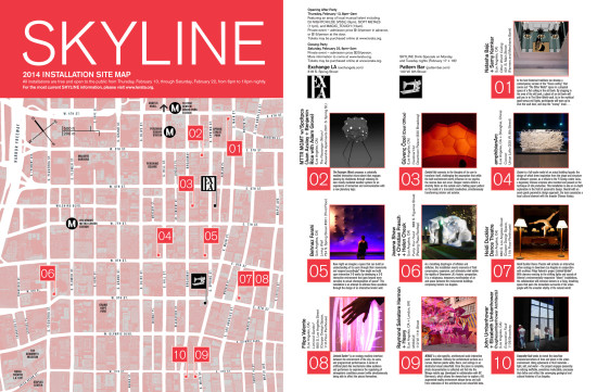 Map of Skyline installations (LERATA)