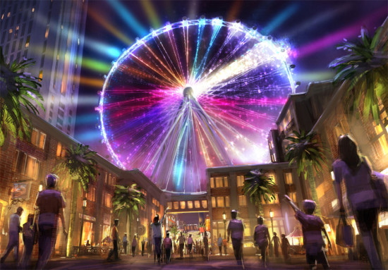 THE HIGH ROLLER IS A 550-FOOT OBSERVATION WHEEL DUE TO OPEN IN LAS VEGAS THIS SPRING (HETTEMA GROUP)