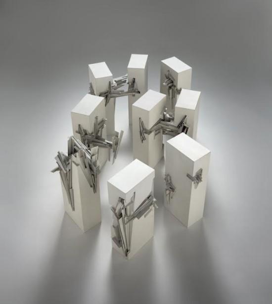 Nine Reconstructed Boxes (Copyright Estate of Lebbeus Woods)