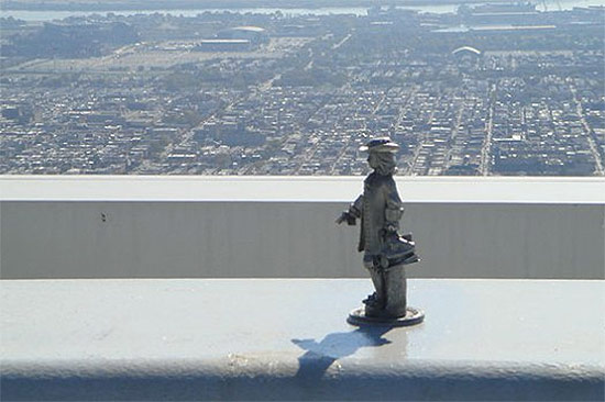 The miniature William Penn currently atop the Comcast Center. (Courtesy Comcast)