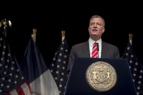 Mayor Bill de Blasio delivers his State of the City address (New York City's Mayor Office / Rob Bennett)