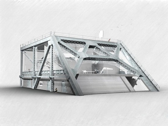 A rendering of the Bay Bridge House.