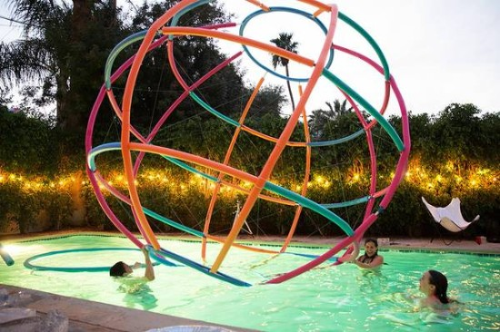 David Freeland's super sized beach ball (Jaime Kowal)
