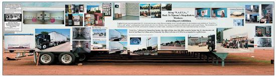 "N.A.F.T.A. #16 A/B ""'N.A.F.T.A. . . ' Returns to Tijuana,""/""'T.L.C. . . ' Regresa a Tijuana,"" 2005. (Fred Lonidier / Courtesy Essex Street, New York)"