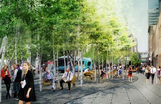 Nicollet Walk Tree Groves (COURTESY JAMES CORNER FIELD OPERATIONS)