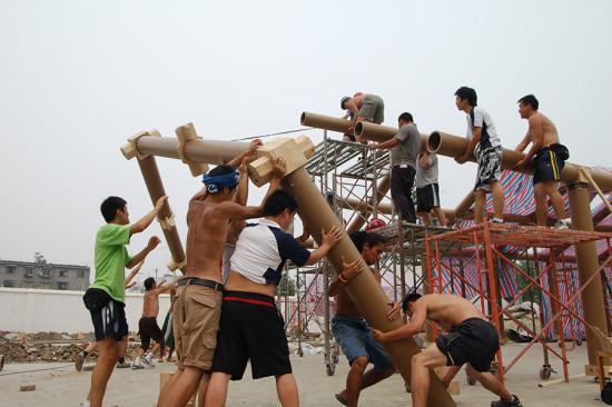 Hualin Temporary Elementary School. (Courtesy Volunteer Architect's Network)