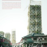 Bamboo Forest: Skyscrapers and Scaffoldings In Symbiosis by Thibaut Deprez
