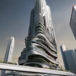 PieXus Tower: Maritime Transportation Hub Skyscraper For Hong Kong by Chris Thackrey, Steven Ma, Bao An Nguyen Phuoc, Christos Koukis, Matus Nedecky, Stefan Turcovsky