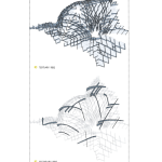 Caret 6's rib structure creates a surprising pattern of large and small cells. (Courtesy UTSOA Design Studio V)