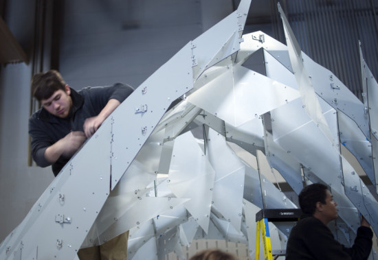 Bieg and his team assembled and disassembled the structure by hand. (Kory Bieg)