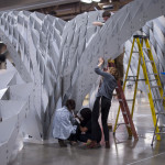 For SXSW, Bieg and his students pre-assembled sections of the installation before arriving at the site. (Kory Bieg)