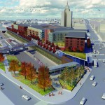 East Liberty Transit Center Aerial Rendering. (Courtesy Studio for Spatial Practice)
